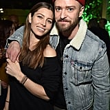 They cozied up at the listening party for Justin's Man of the Woods album in January 2018.