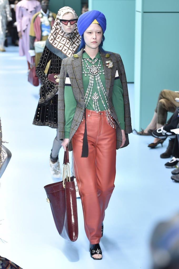 Gucci Models Wearing Turbans Fall 2018