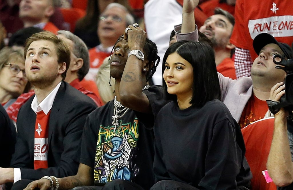 Kylie Jenner and Travis Scott at Basketball Game April 2018