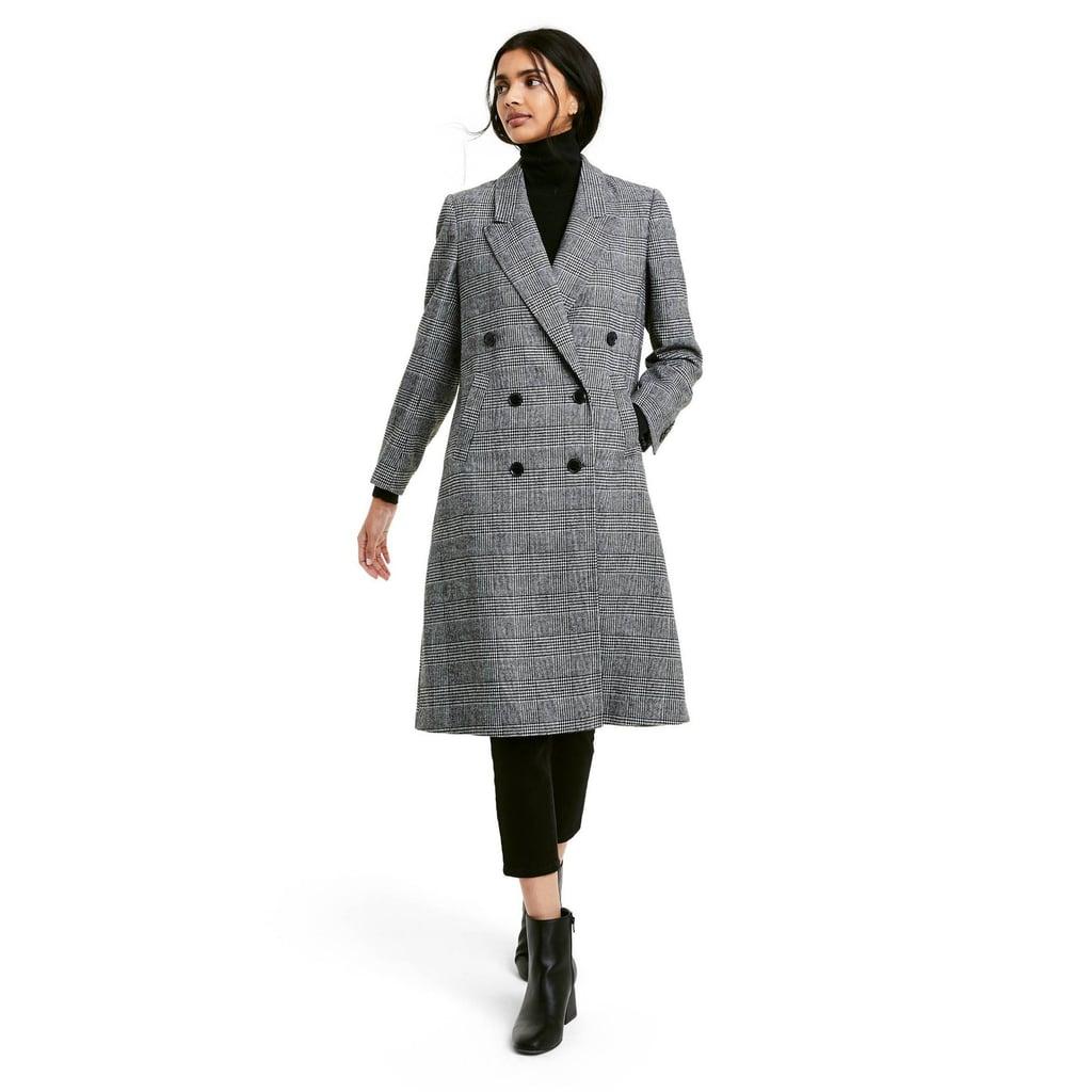A Plaid Coat: Nili Lotan x Target Plaid Double Breasted Overcoat