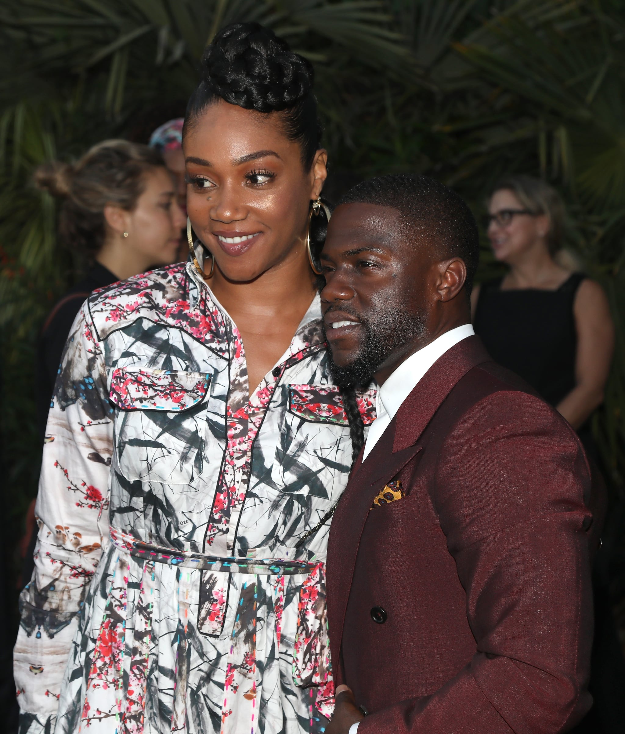 BEVERLY HILLS, CA - AUGUST 03:  Tiffany Haddish and Kevin Hart attend Kevin Hart And Jon Feltheimer Host Launch Of Laugh Out Loud at a Private Residence on August 3, 2017 in Beverly Hills, California.  (Photo by Jerritt Clark/WireImage)