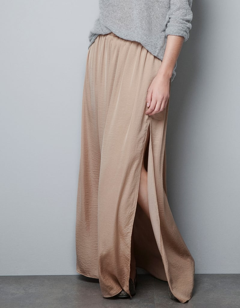 Zara Long Skirt With Splits ($30, originally $36)