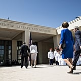 Celebrating the opening of the George W. Bush Presidential Library together in 2013