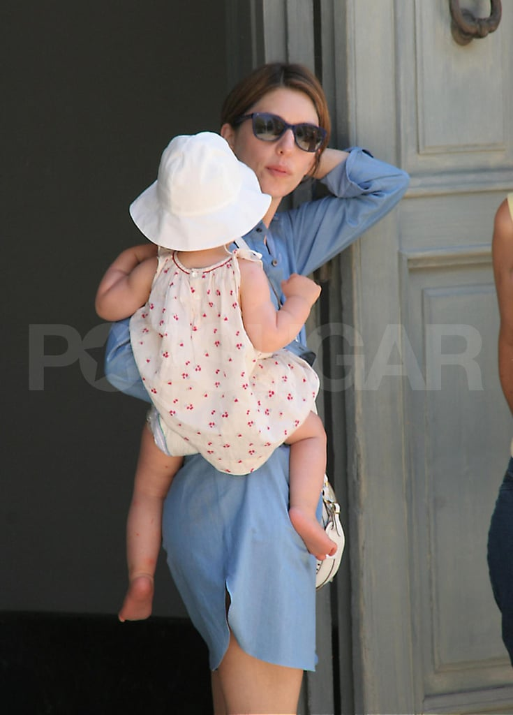Sofia Coppola and daughter Cosima Mars before the Aug. 27 wedding of Sofia and Thomas Mars.