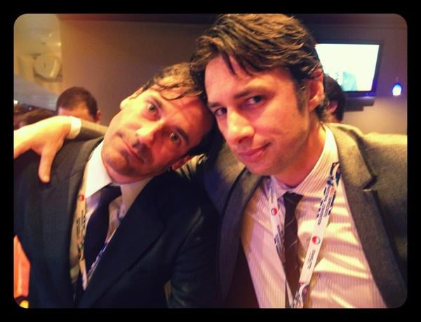 "There's too much hotness in this 2012 snap of Jon Hamm and Zach Braff, and Zach knows it. ""Here's one for the ladies,"" he wrote in the caption."