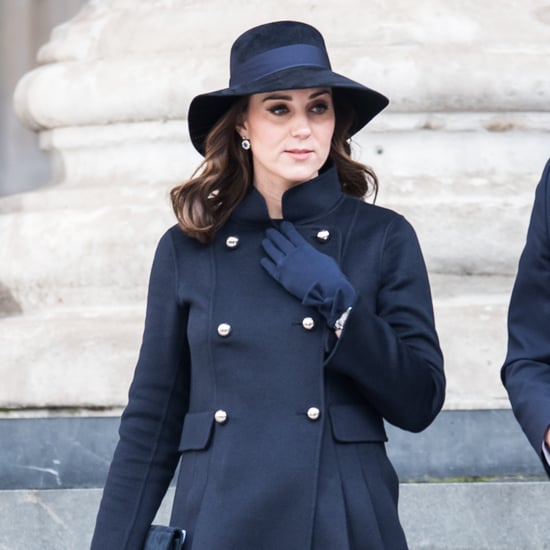 Kate Middleton Blue Carolina Herrera Coat