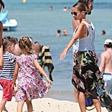 Nicole Richie and Joel Madden hung out with their kids, Sparrow and Harlow on the beach in St. Tropez.