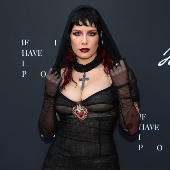 Halsey's Black Dolce & Gabbana Dress at Their Film Premiere