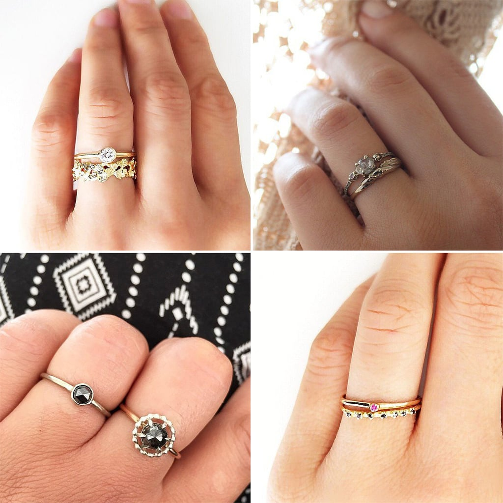 30 small real girl engagement rings with big impact - Small Wedding Rings