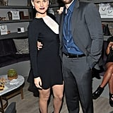 Alice Eve and Chris Evans hung out at the Pandora jewelry event for their movie, Before We Go.