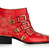 We love that Chloé understands the value of a home run shoe, and this boot certainly fits the mold. In this siren red iteration, we envision a tough moto-chick ensemble to come with. Chloé Red Susanna Studded Boot ($1,295)