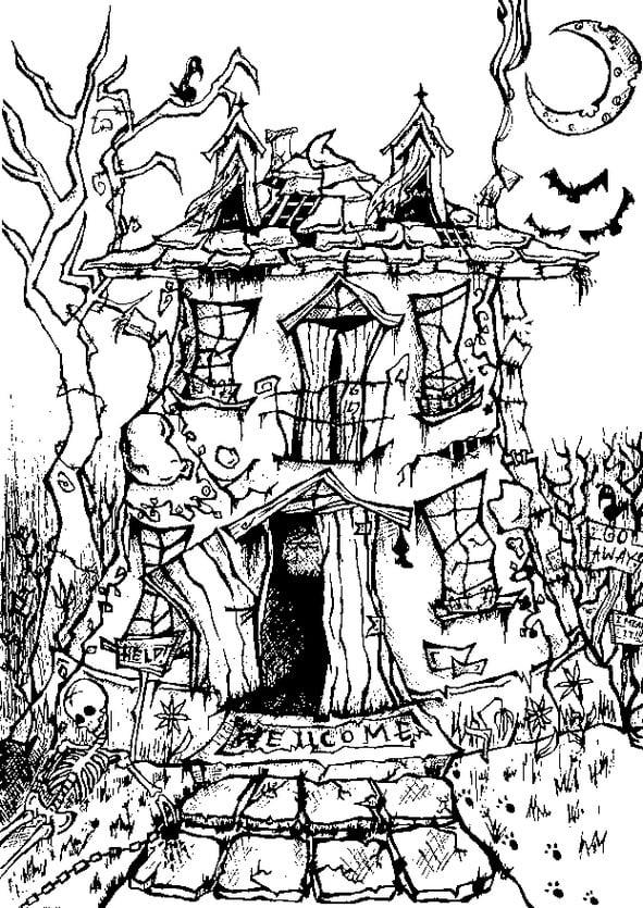 - Printable Halloween Coloring Pages For Adults POPSUGAR Smart Living