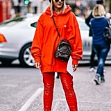 Break Up a Monochrome Look With a Beanie in a Contrasting Color