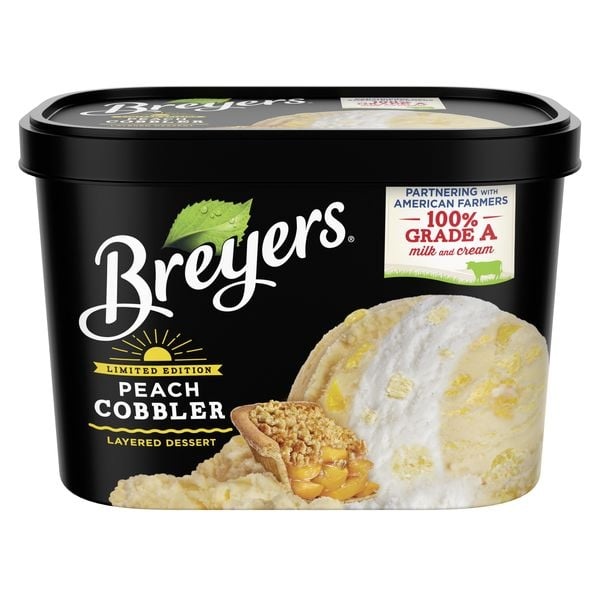 Breyers Peach Cobbler Layered Ice Cream