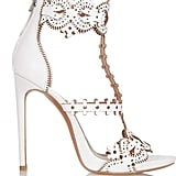 Alaïa Laser-Cut Leather Sandals