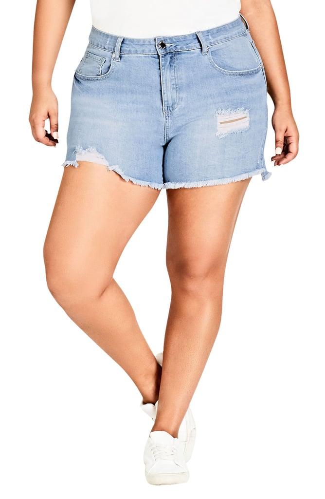 24eb48d11e Denim Shorts by Body Type | POPSUGAR Fashion