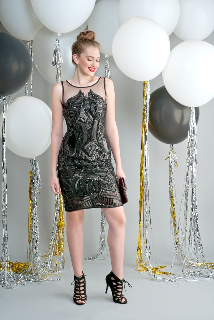 Sequin illusion sheath