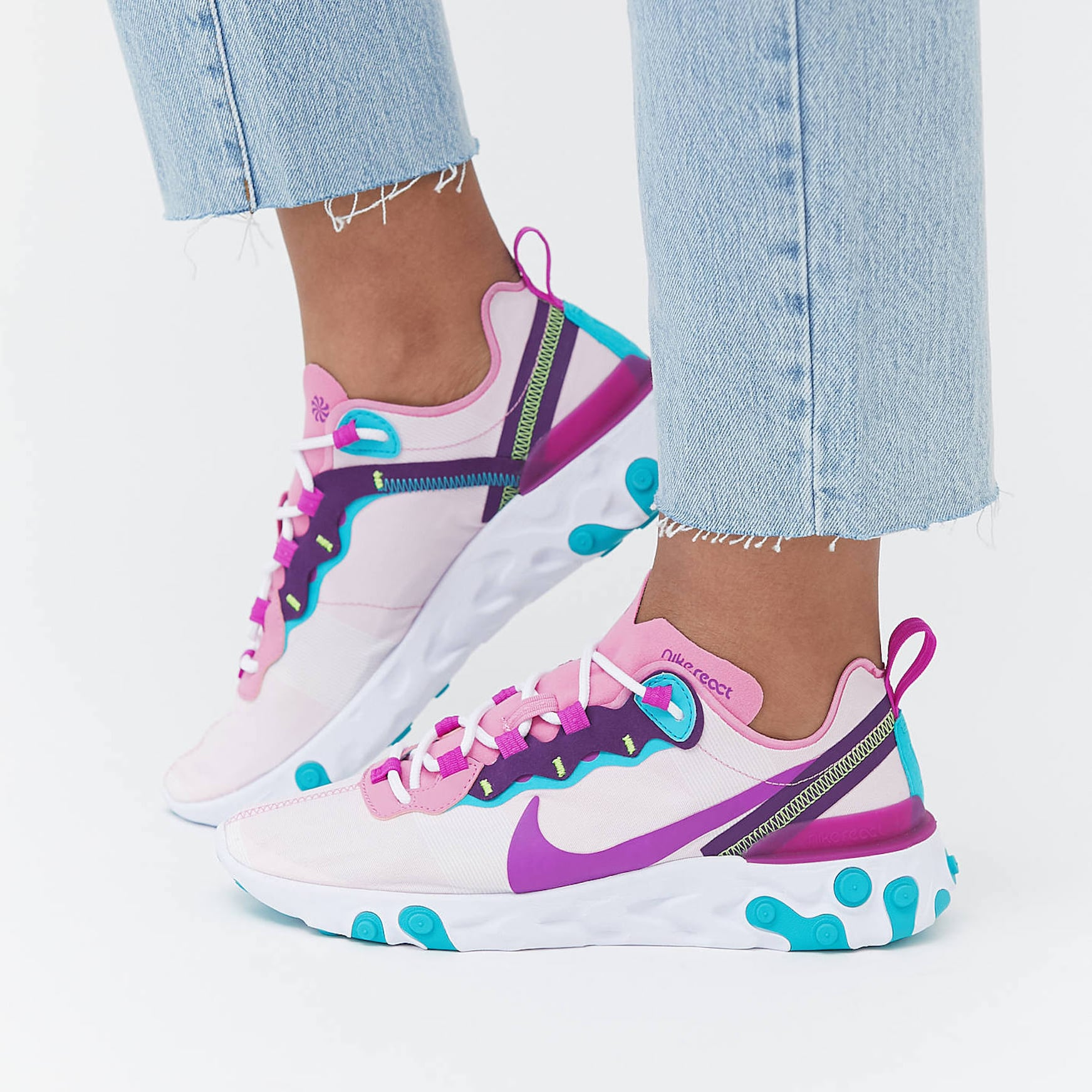 Nike React Pink and Purple Sneakers 2020 | POPSUGAR Fashion