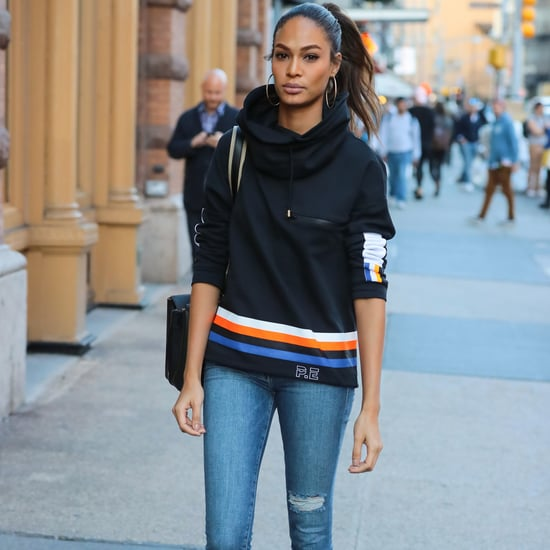 Joan Smalls's P.E Nation Sweatshirt Street Style Oct. 2016
