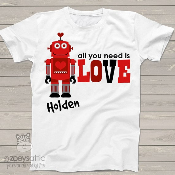 """""""robot with a heart"""" onesie"""