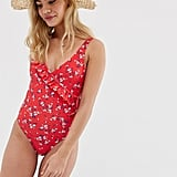 New Look Ditsy Wrap Swimsuit