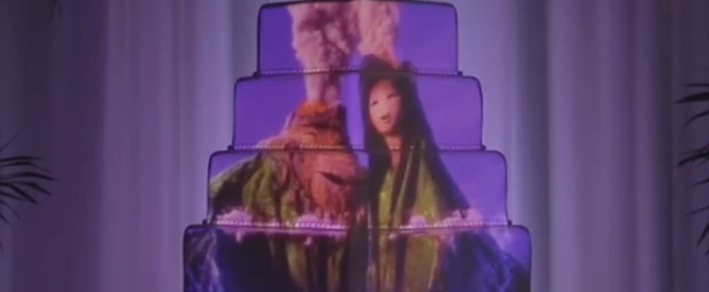 5 Epic Wedding Cakes With Disney Images Projected Onto Them