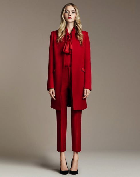 Studio Straight Coat, ($229) Studio Straight Leg Trousers, ($90) Medium Heel Pointed Shoe, ($90)