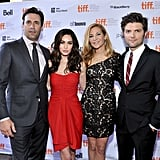 Jon Hamm, Megan Fox, Jennifer Westfeldt, and Adam Scott at Friends With Kids.