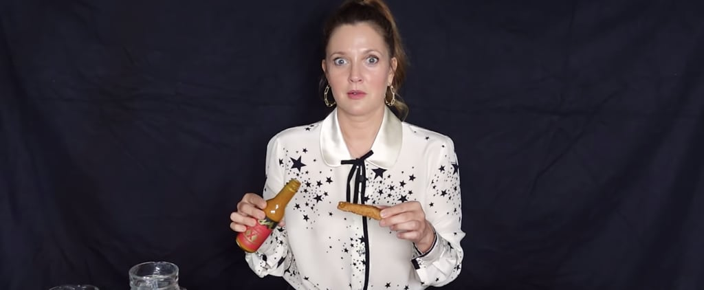 Drew Barrymore Talks Famous Movie Roles and Eats Hot Ones