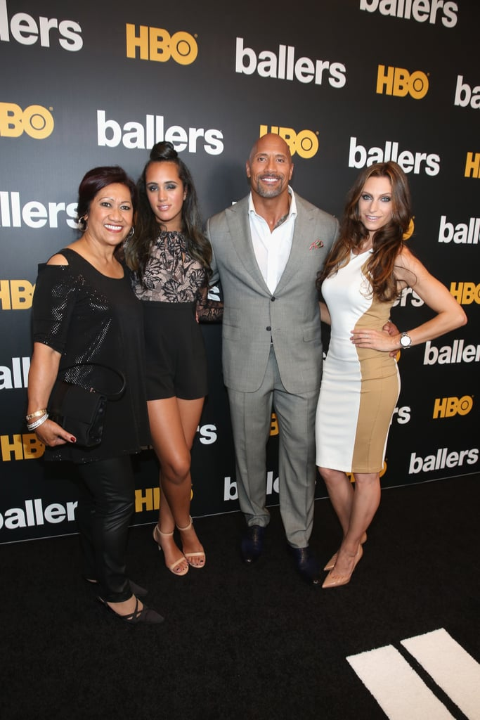 "Dwayne Johnson had the loving support of his beautiful family at the Miami Beach premiere of Ballers' second season on Friday. The actor — who recently wrapped up his press tour for Central Intelligence — was all smiles as he posed for photos with his mother, Ata Johnson, daughter Simone Alexandra, and longtime girlfriend Lauren Hashian by his side. Later that evening, Dwayne took to Instagram to share photos from the event, including one where he thanked his fans for their support, writing, ""We balled out... THANK YOU @HBO, my hometown city of Miami and the fans for making our black carpet premiere epic and unforgettable. Our NEW SEASON gets lit this SUNDAY on @HBO at 10pm. #ballers 🔥👊🏾💯""  This is shaping up to be a big year for Dwayne. Not only is Ballers returning to HBO for its second season later this month, but the actor has also been busy filming Fast 8 and the Baywatch reboot. In addition, Forbes recently named him the world's highest-paid actor. See more of Dwayne's latest appearance now, then prepare to swoon and laugh as we look back at 17 of his funniest moments."