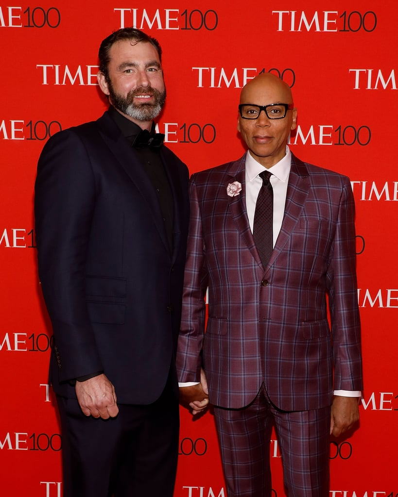 RuPaul with handsome, Husband  Georges LeBar
