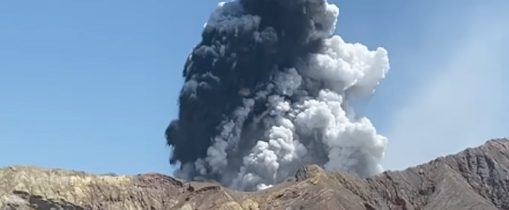 Pictures of the White Island Volcano Eruption in New Zealand