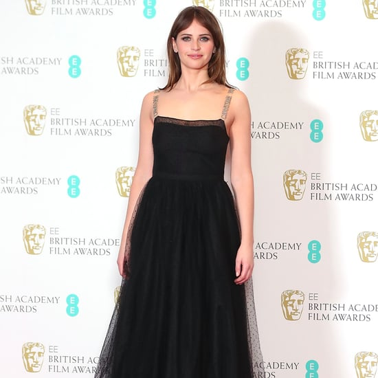 Felicity Jones in Christian Dior at the 2017 BAFTA Awards