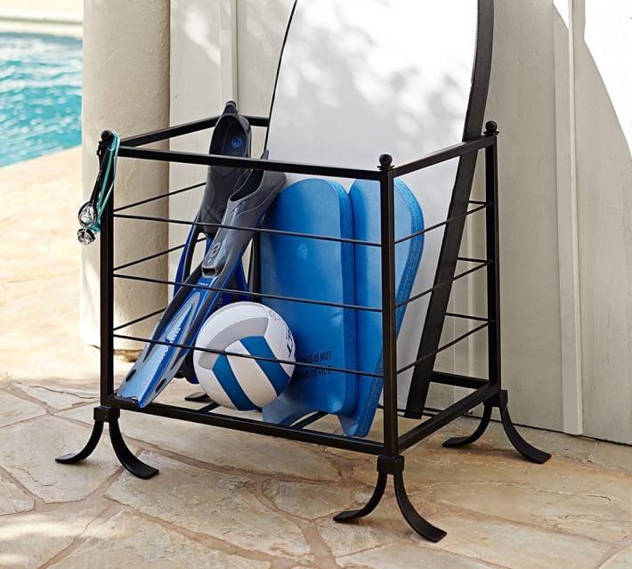 Bronze Pool Storage Accessories Bin