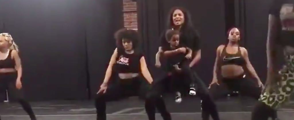Ciara Dancing With Daughter During Rehearsals