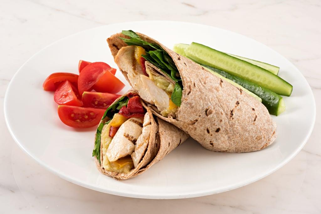 Healthy Wrap With Rotisserie Chicken