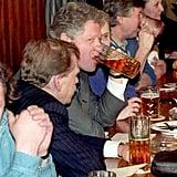 Clinton visited Prague's Golden Tiger pub during a 1994 visit.