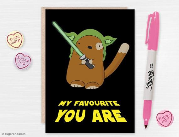 SugarandSloth Star Wars Valentine Card