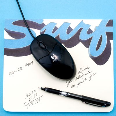 Brilliant Idea: A Mouse Pad That's a Note Pad