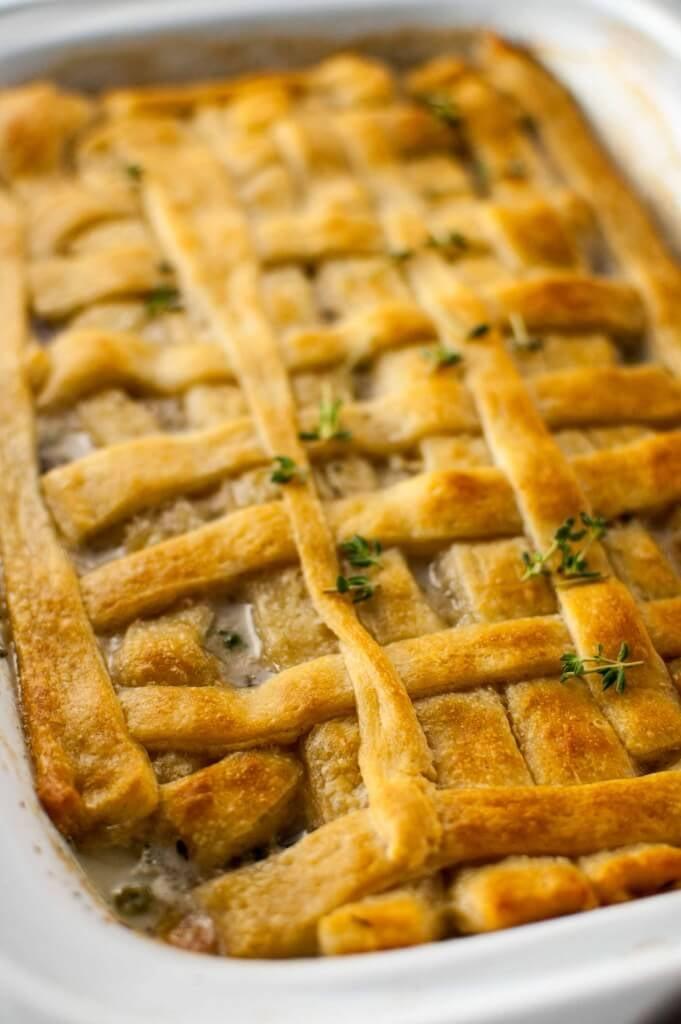Slow Cooker Chicken Pot Pie Casserole Slow Cooker Casserole