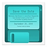 Throw it way back with this unique floppy disk save the date ($2 each).