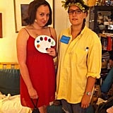 Copy editor Mary and her sister went as the before and after versions of Laney in She's All That.