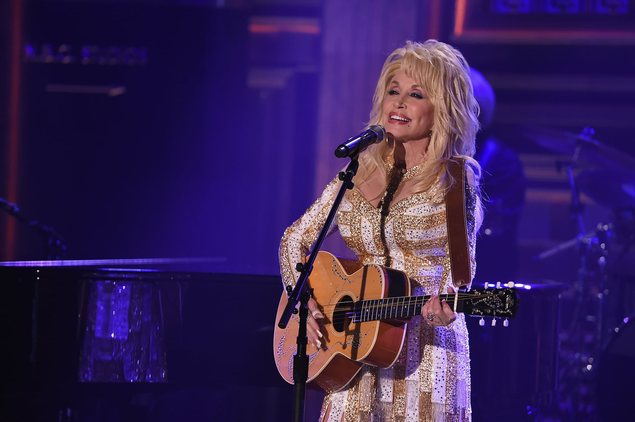NEW YORK, NY - AUGUST 23:  Dolly Parton Visits
