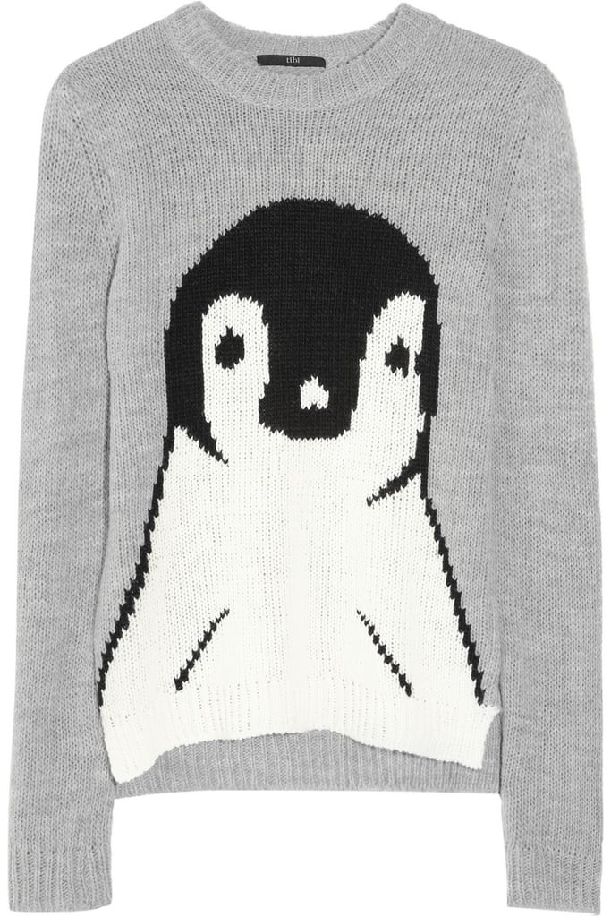 Everybody loves penguins, which is why this Tibi Penguin Intarsia Sweater ($375) will look adorable even after the holiday season.