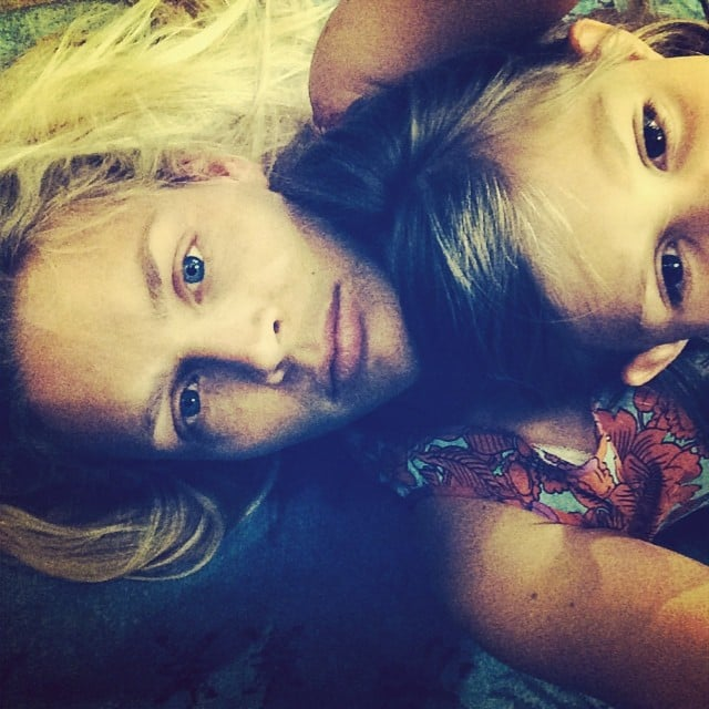 Busy Philipps took a selfie with her mini me, Birdie. Source: Instagram user busyphilipps