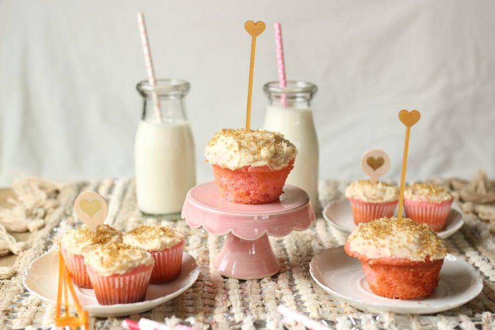 Vanilla Bean and Raspberry Cupcakes