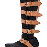 Vivienne Westwood Suede Buckle-Accented Mid-Calf Boots