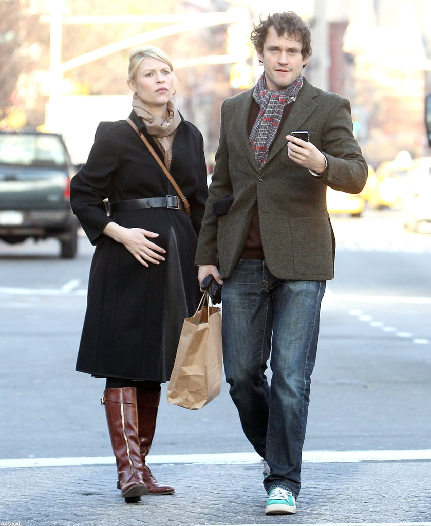 Claire Danes and Hugh Dancy grabbed a cab after lunch.