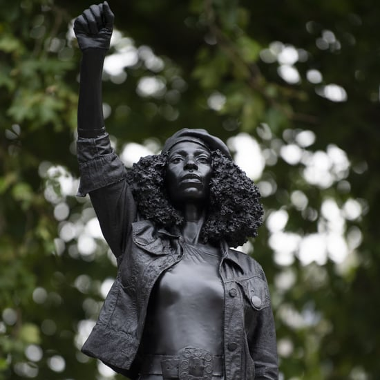 BLM Protestor Jen Reid Replaces Edward Colston Statue