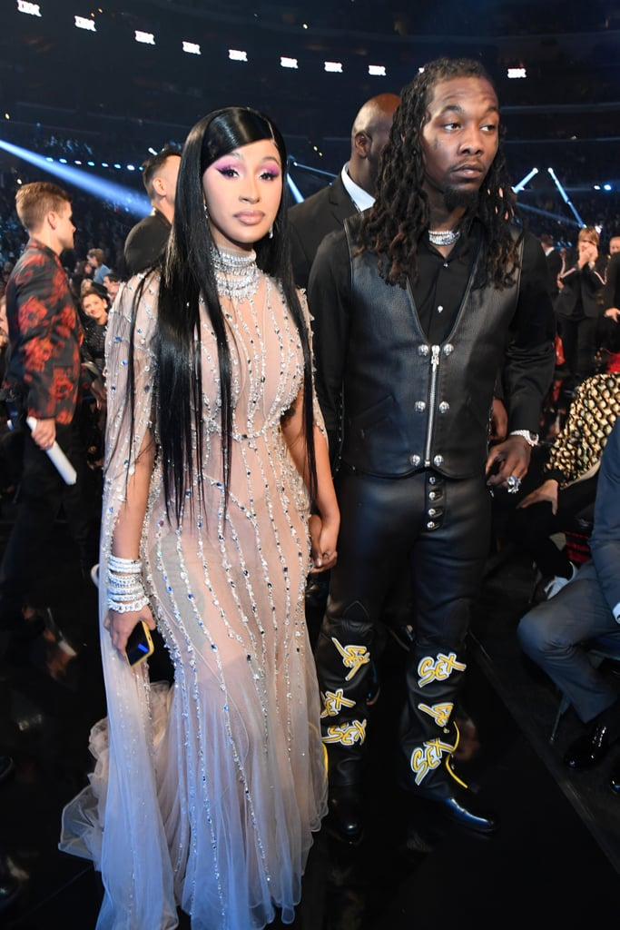 Cardi B Looks Like a Work of Art in This Sheer Mugler Gown at the Grammys
